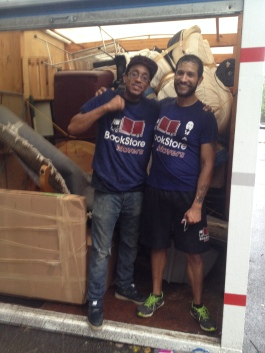 Bookstore movers, rocking it!