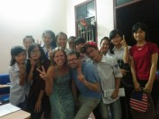 Our teenage English class in Hanoi, Vietnam.