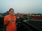 Roof top in Siem Reap.