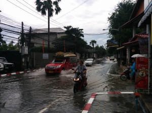 The streets of Koh Samui as the monsoon moves in.