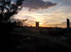 Sunset in Nairobi.