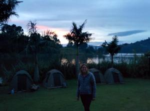 Campsite in Uganda