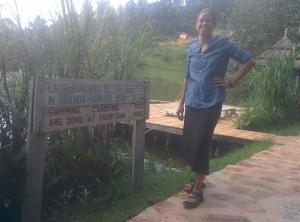 Campsite in Uganda.