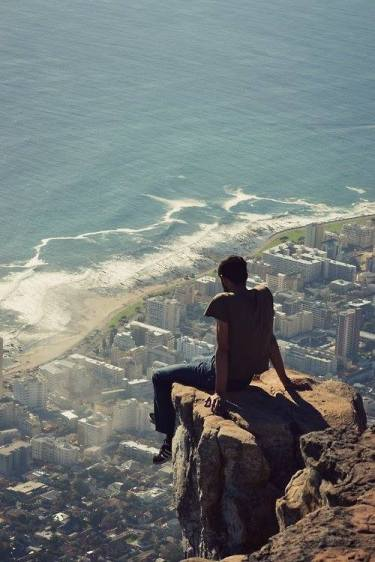 An amazing shot at the top of Lion's head