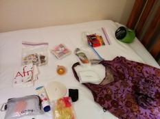 other gear including shoulder bag and sleep sack
