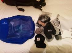 underwear, bras, and socks