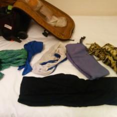 sarong, towel, scarf, bathing suit, etc.