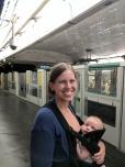 Theo rides the metro